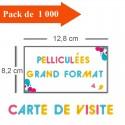 1000 Cartes de visite grand format pelliculées - 3 jours