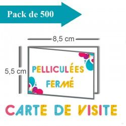 500 Cartes de visite - 2 jours