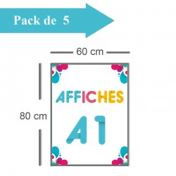 5 Affiches A1 - 2 jours