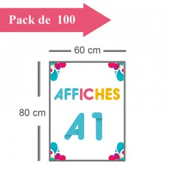 100 Affiches A1 - 10 jours
