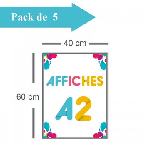 5 Affiches A2 - 2 jours