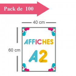 100 Affiches A2 - 10 jours