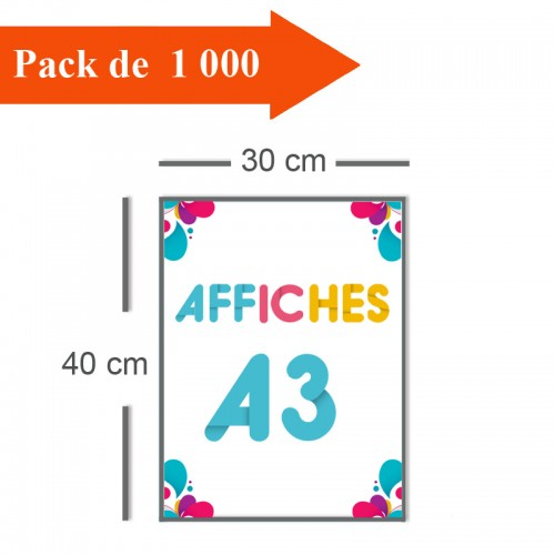 1000 Affiches A3 - 10 jours