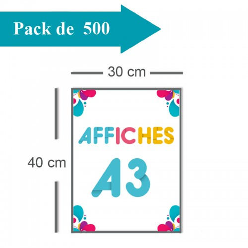 500 Affiches A3 - 10 jours