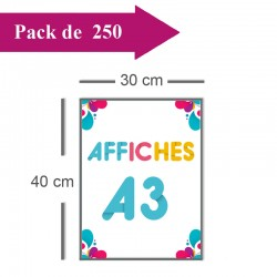 250 Affiches A3 - 2 jours