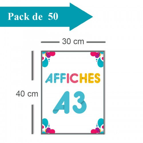 50 Affiches A3 - 2 jours