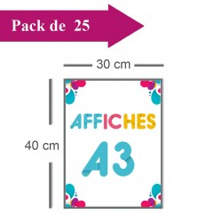 25 Affiches A3 - 2 jours
