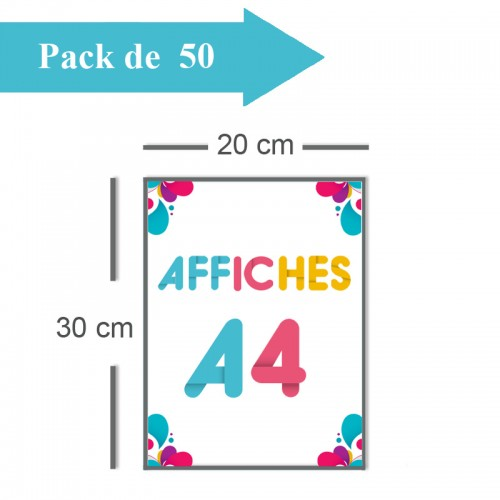 50 Affiches A4 - 2 jours