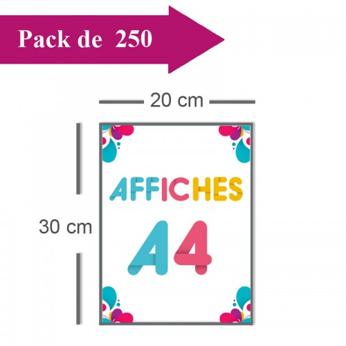 250 Affiches A4 - 2 jours