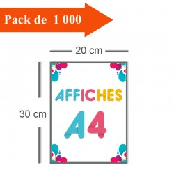 1000 Affiches A4 - 10 jours