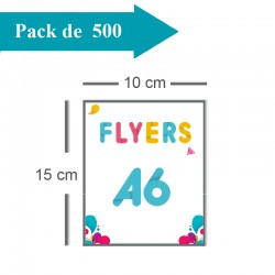 500 Flyers A6 - 2 jours