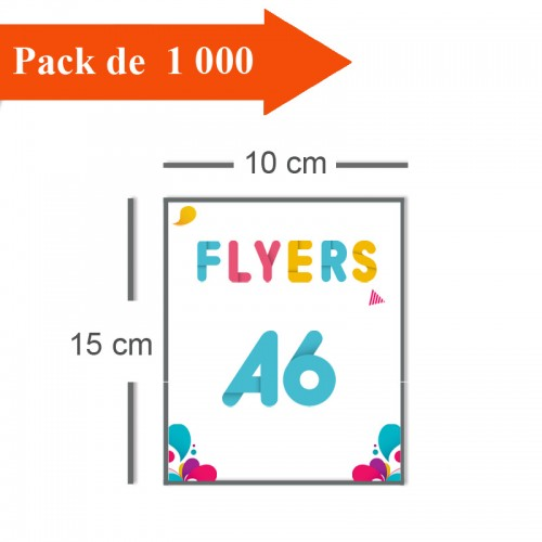 1000 Flyers A6 - 2 jours