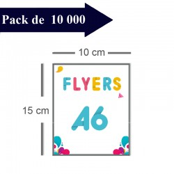 10000 Flyers A6 - 10 jours