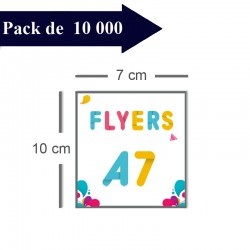 10000 Flyers A7 - 10 jours