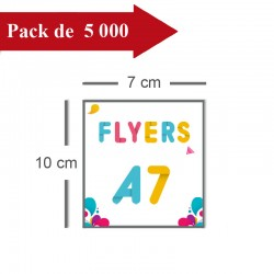 5000 Flyers A7 - 10 jours