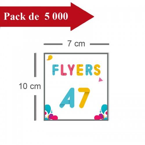 5000 Flyers A7 - 10 jours