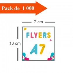 1000 Flyers A7 - 2 jours