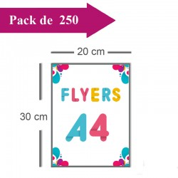 250 Flyers A4 - 2 jours