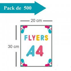 500 Flyers A4 - 2 jours