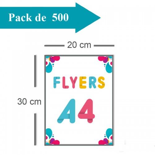 500 Flyers A4 - 2 jours