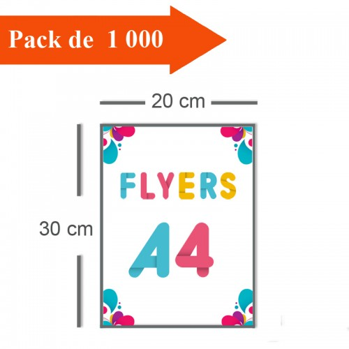 1000 Flyers A4 - 2 jours