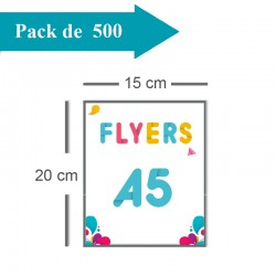 500 Flyers A5 - 2 jours