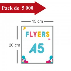 5000 flyers A5 - 4 jours
