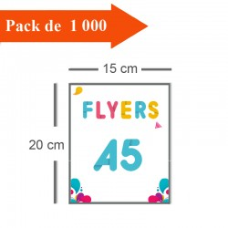 1000 Flyers A5 - 2 jours