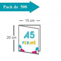 500 Dépliants double volet A5 fermé (15x20) / A4 ouvert (30x20) - 3 j