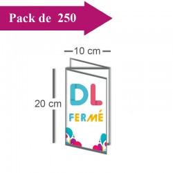 250 Dépliants double volet DL fermé (10x20) / 20x20cm ouvert - 3 jours
