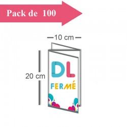 100 Dépliants triple volet DL fermé (10x20cm) / A4 ouvert (30x20cm) - 3 j
