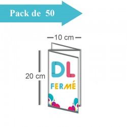 50 Dépliants triple volet DL fermé (10x20cm) / A4 ouvert (30x20cm) - 3 j