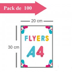 100 Flyers A4 - 2 jours