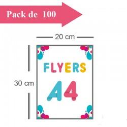 100 Flyers A4 - 2 jours