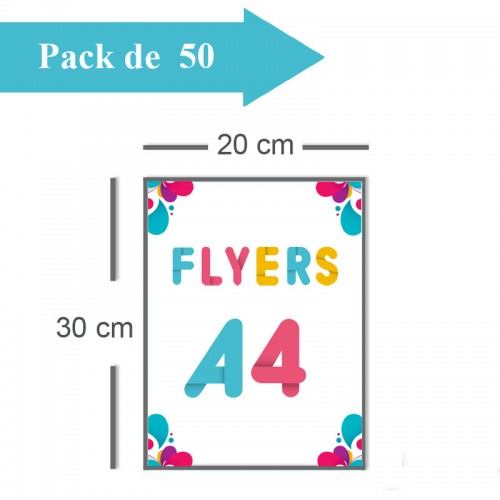 50 Flyers A4 - 2 jours