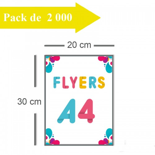 2000 Flyers A4 - 2 jours