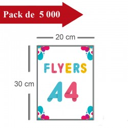 5000 Flyers A4 - 8 jours
