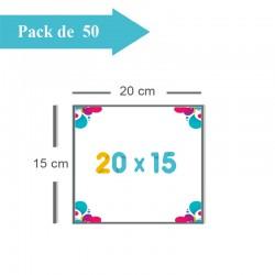 50 Faire-part 20x15 - 2 jours