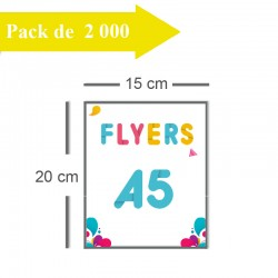 2000 Flyers A5 - 3 jours