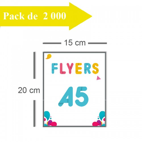 2000 Flyers A5 - 3 jours