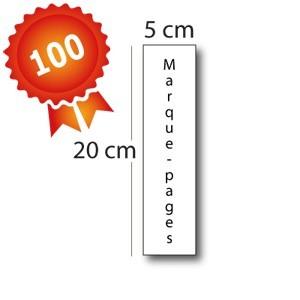 100 Marque-pages standards pelliculés - 2 jours