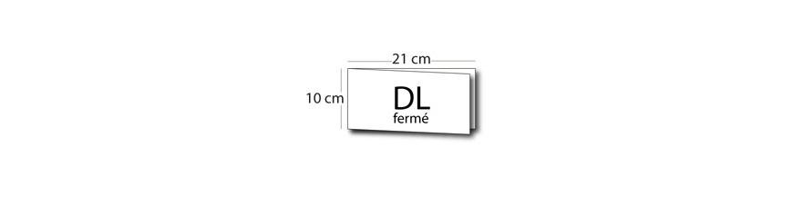 Carte de voeux double volet DL (21x10cm) / 42x10cm