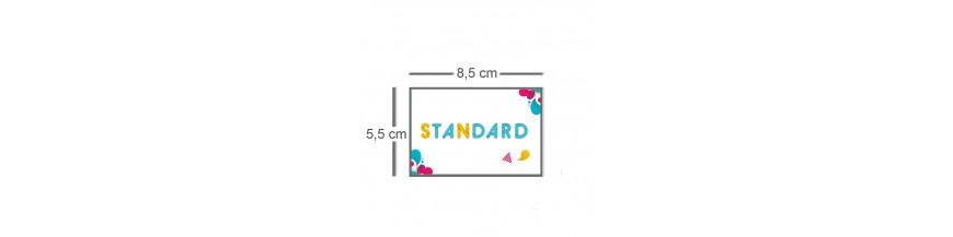 Carte standard 8,5x5,5cm