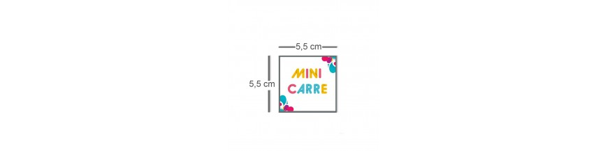 Carte mini carré 5,5cm