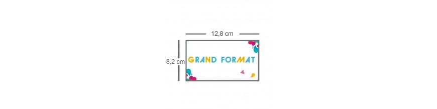 Carte grand format 12,8x8,2cm