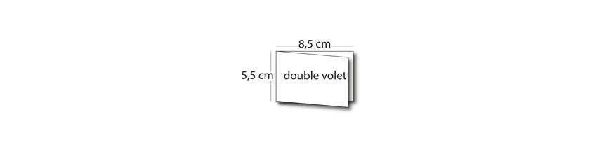 Carte 8,5x5,5cm / 17x5,5cm