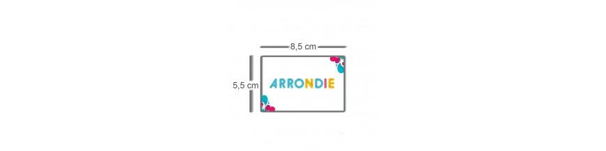 Carte coins arrondis 8,5x5,5cm
