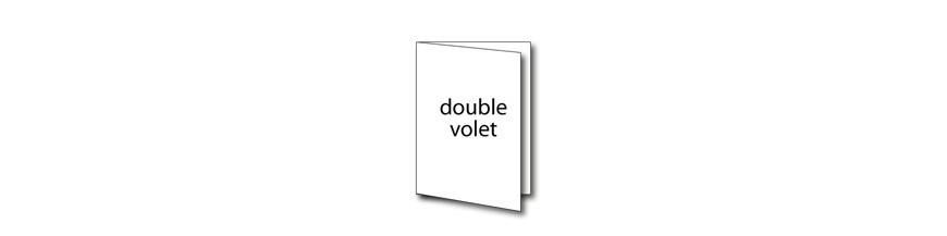 Dépliant double volet
