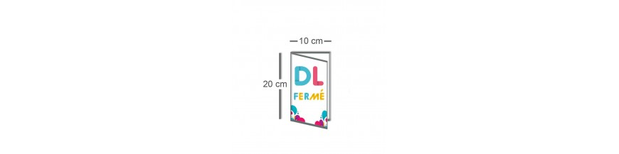 Dépliant DL fermé (10x20cm) / Carré ouvert (20x20cm)