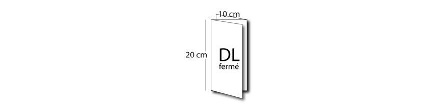 Dépliant DL fermé (10x20cm) / A4 ouvert (30x20cm)